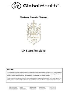 UK State Pensions