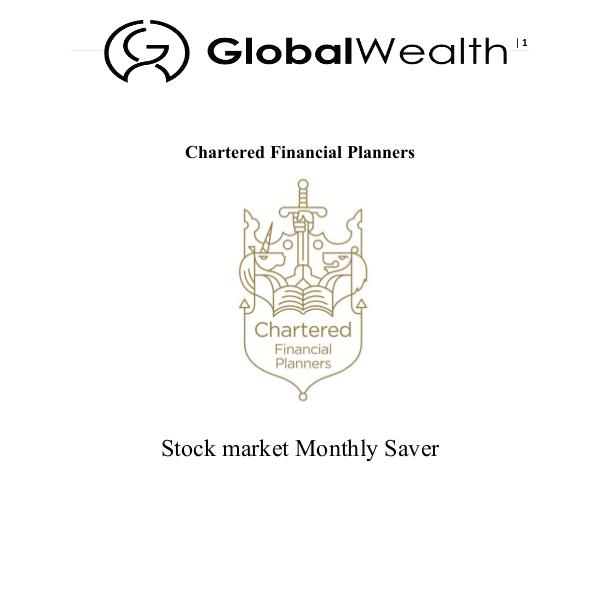 Stock Market Monthly Saver Monthly Saver Guide FINAL