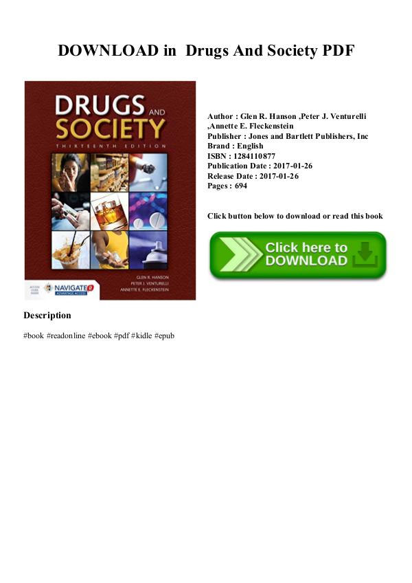 DOWNLOAD in PDF Drugs And Society PDF DOWNLOAD in PDF Drugs And Society PDF