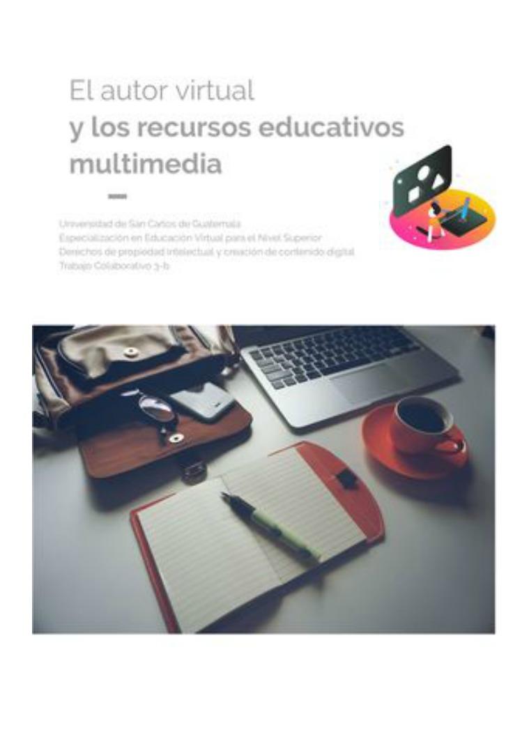 El autor virtual y los Recursos Educativos Multimedia El autor virtual y los recursos educativos