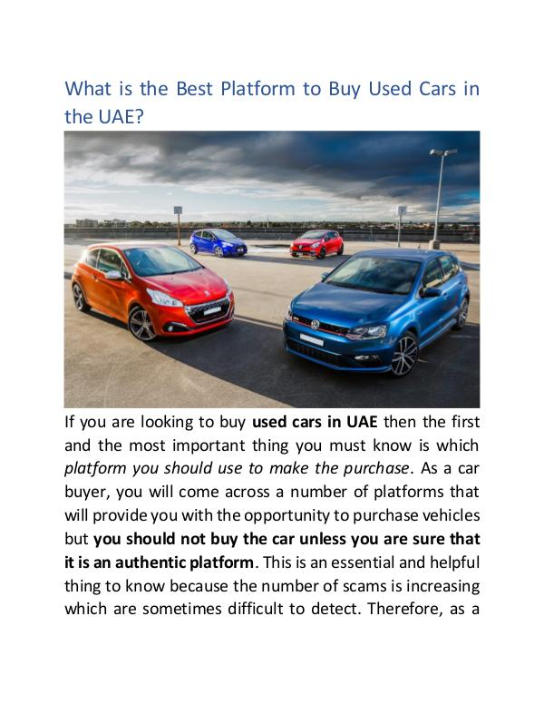Buy Any Car What is the Best Platform to Buy Used Cars in UAE