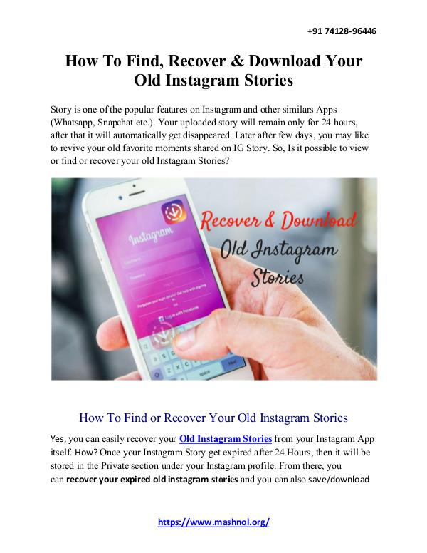 How To Remove Mobile Number From Instagram Account How To Find, Recover & Download Your Old Instagram