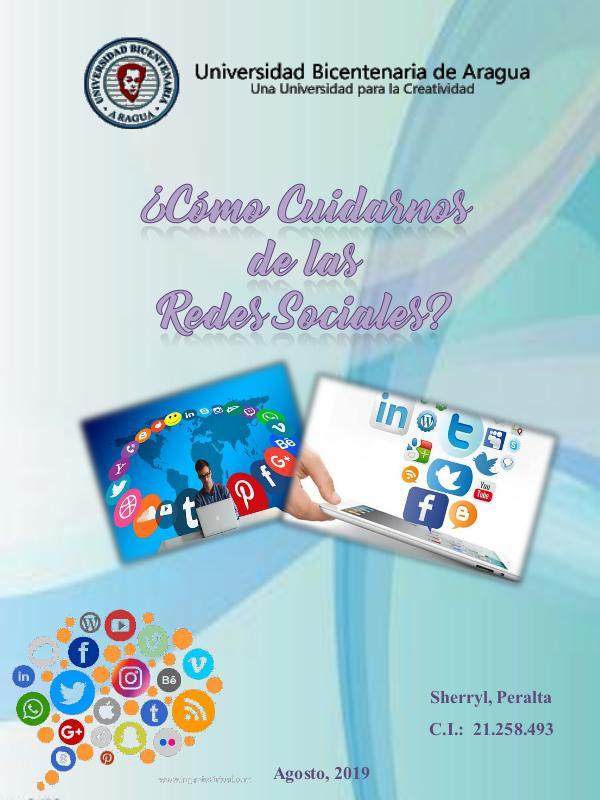 Mi primera publicacion Como cuidarnos de las redes sociales Sherryl Peral