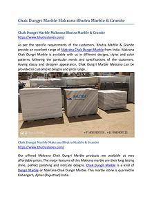 Chak Dungri Marble Makrana Bhutra Marble & Granite