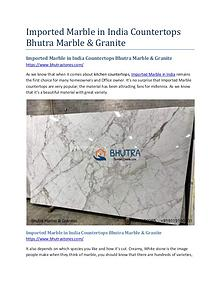 Imported Marble in India Countertops Bhutra Marble & Granite