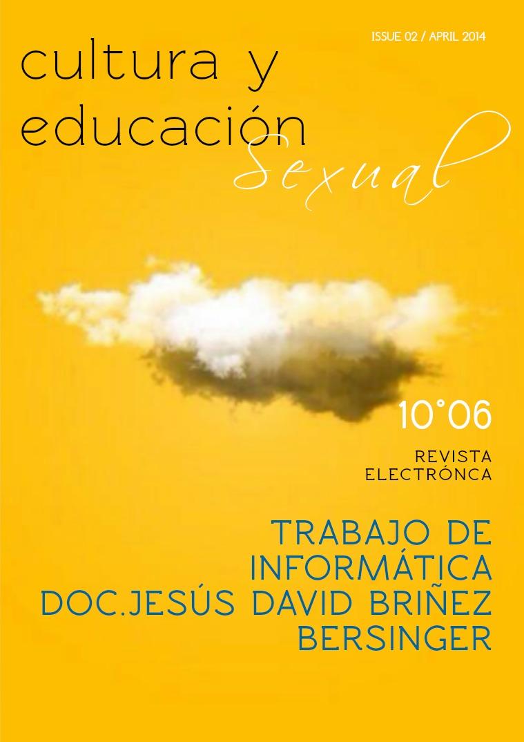 Mi primera publicacion Educación sexual