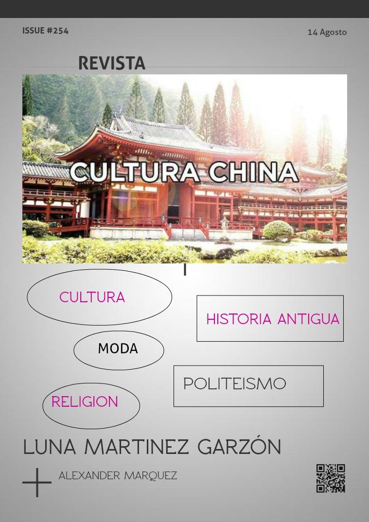 Mi primera publicacion CULTURA CHINA Y SUS CARACTERISTICAS