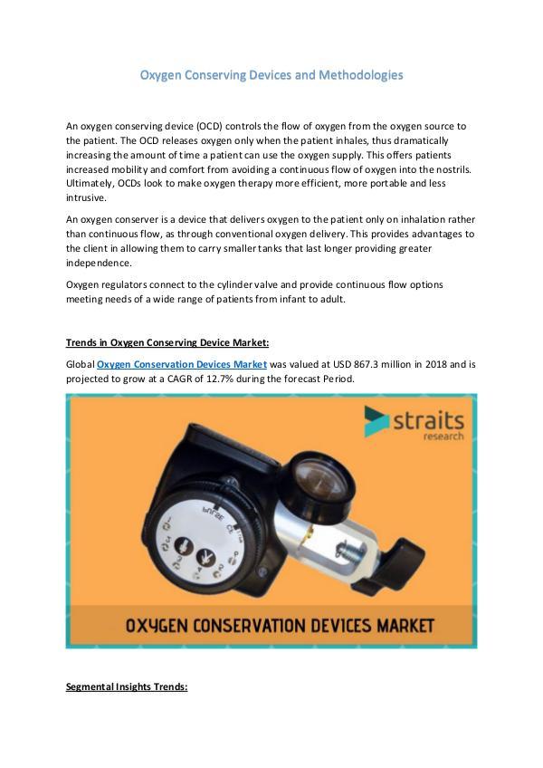 Pre-implantation Genetic Testing: Its Evolution. Oxygen Conserving Devices Market