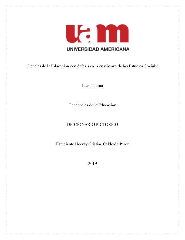 Diccionario Pictórico Tendencias Contemporáneas de la Educación Diccionario Pictórico