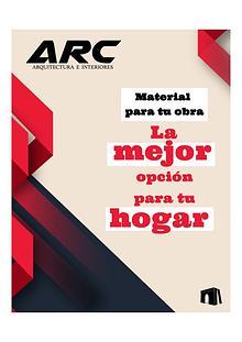 Catálogo Arquitectura e interiores