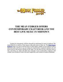 The Mean Fiddler | Irish Pub in Midtown, Nightclub, Karaoke