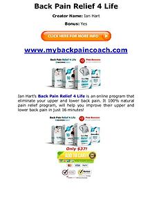(PDF) Back Pain Relief 4 Life PDF Book Free Download: Ian Hart