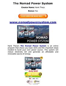 (PDF) Nomad Power System PDF Book Free Download: Hank Tharp