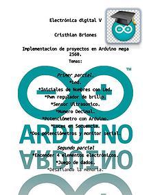 Programas y diseño Arduino.