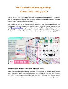 What are the best pharmacy for buying ambien online in cheap price ar
