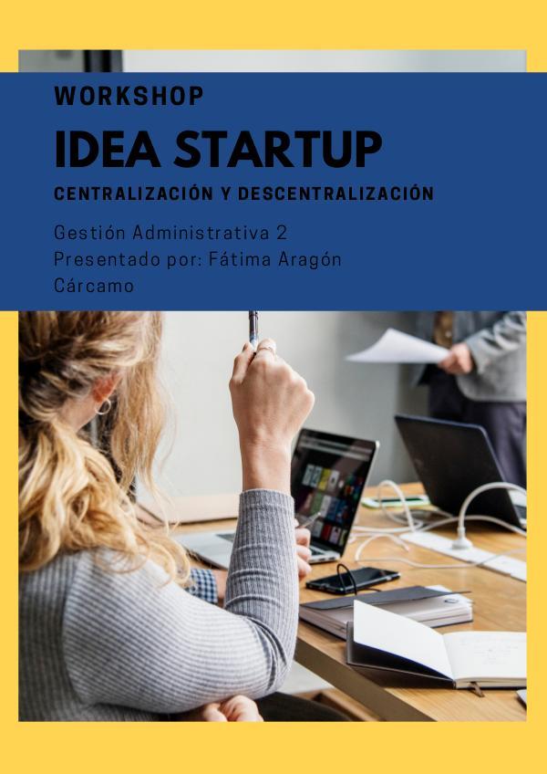 Workshop y startup Workshop Fatima Aragon