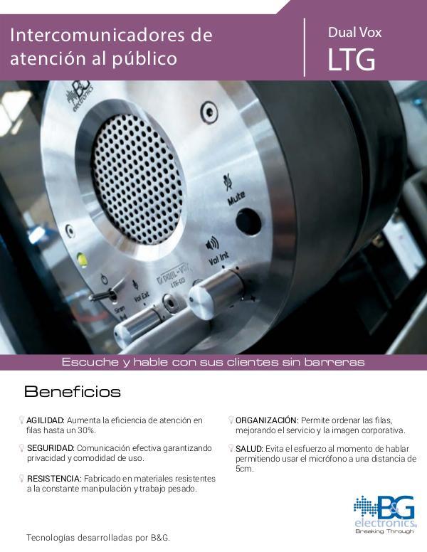 Intercomunicador de ventanilla para atención al público Brochure_LTG_ESPAÑOL