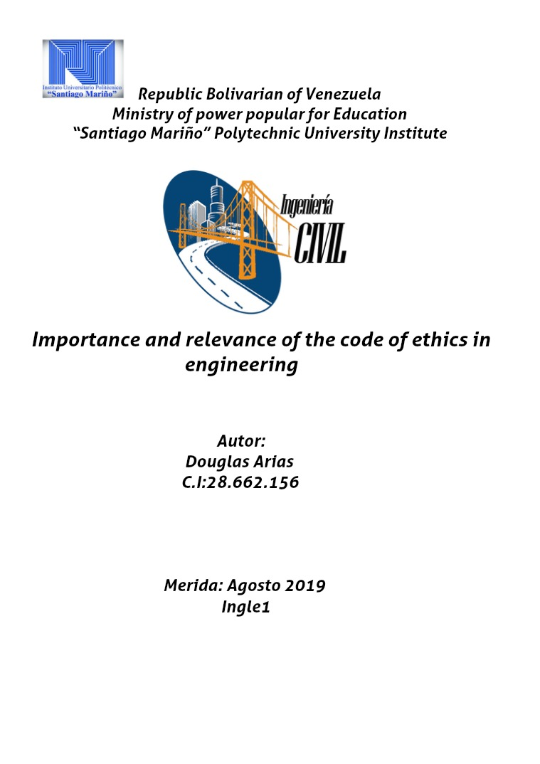 Importance and relevance of the code of ethisc in civil engineerieng Etica