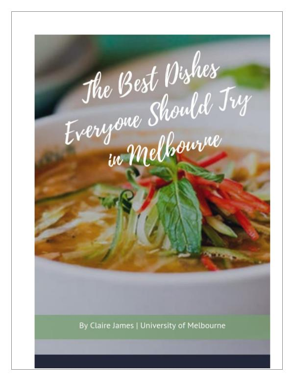 The Best Dishes Everyone Should Try in Melbourne Best Dishes Everyone Should Try in Melbourne
