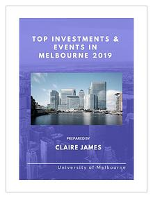Top Investments & Events in Melbourne 2019