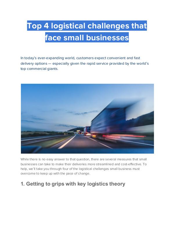 CitySprint and Clean Air Day 2019 Top 4 logistical challenges that face small busine