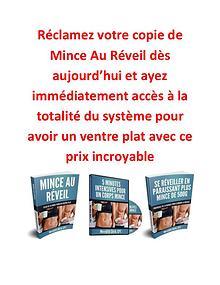 Mince Au Reveil PDF / Livre Programme Gratuit Télécharger