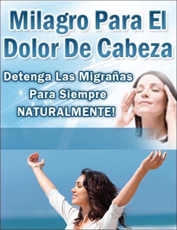 Milagro Para El Dolor De Cabeza PDF Migraña Libro Gratis Descargar Milagro Para El Dolor De Cabeza Avis