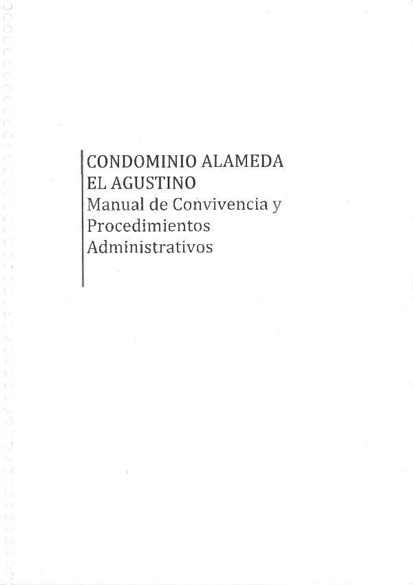 REGLAMENTO INTERNO - CONDOMINIO ALAMEDA EL AGUSTINO Reglamento Interno -Condominio Alameda