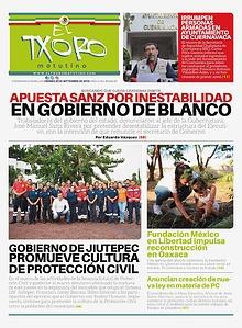 Edición impresa de El Txoro Matutino del 20 de septiembre de 2019