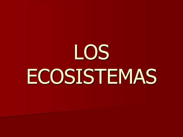 Ecosistemas Ecosistemas 1