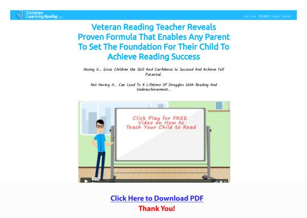 Children Learning Reading PDF Free Download