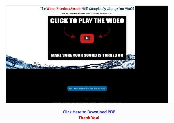 Water Freedom System PDF Free Download