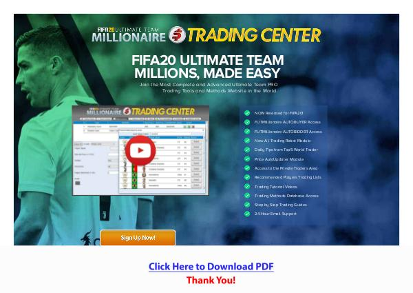 Fifa20 Futmillionaire Trading Center PDF Free Download