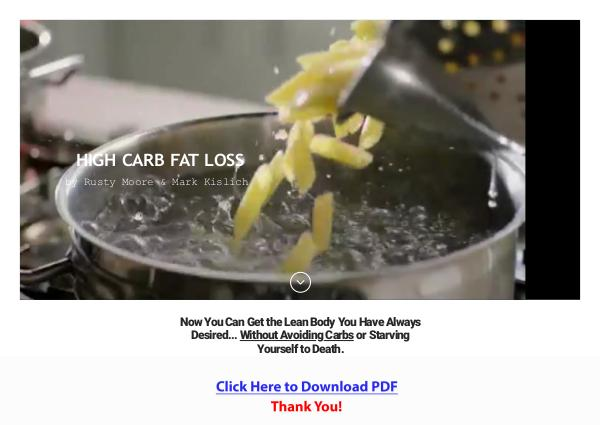 High Carb Fat Loss - by Rusty Moore PDF Free Download