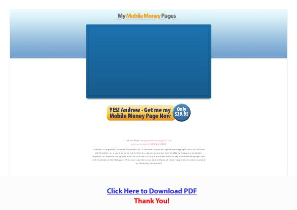 My Mobile Money Pages PDF Free Download