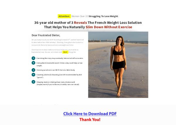 The French Paleo Burn Weight Loss Program PDF Free Download