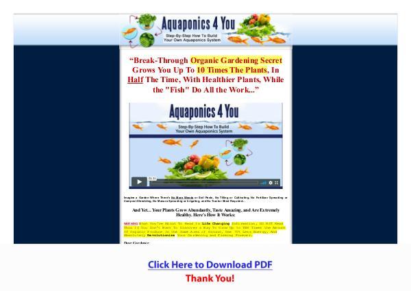 Aquaponics 4 You PDF Free Download