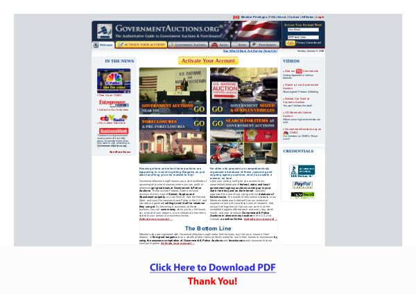 Government Auctions & Bank Foreclosures PDF Free Download