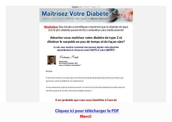 Maitrisez Votre Diabete PDF Free Download