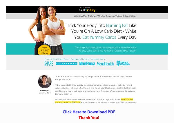 The Half Day Diet PDF Free Download