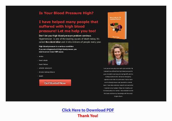 Natural Solutions For High Blood Pressure PDF Free Download