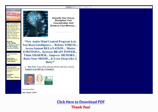 Audio Mind Control PDF Free Download