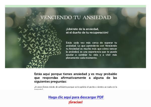 Venciendo Tu Ansiedad PDF DESCARGAR COMPLETO 2020