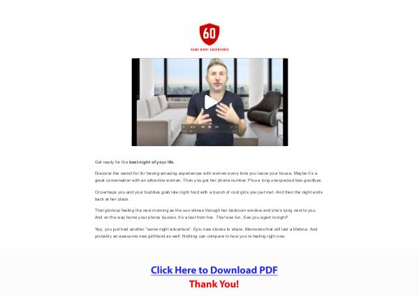 The Automatic Seduction System PDF Free Download
