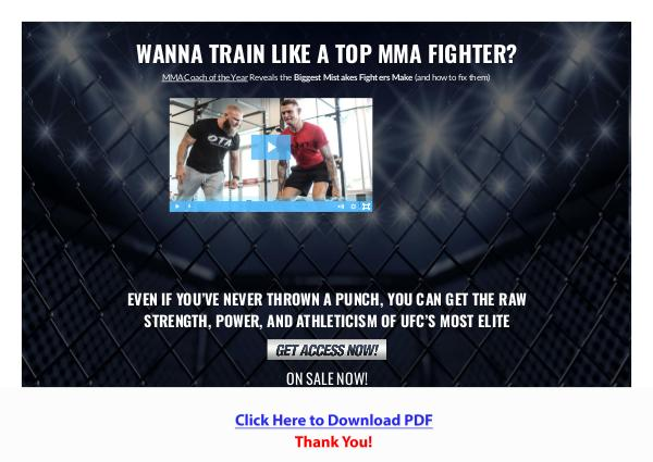 Fight Ready Training Program PDF Free Download