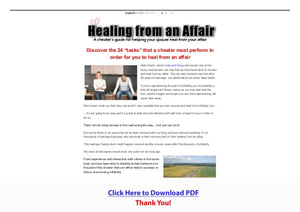 Healing From An Affair PDF Free Download