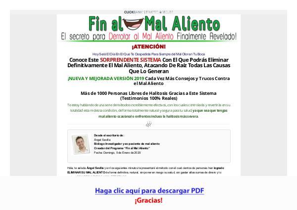 Fin Al Mal Aliento Solucion PDF DESCARGAR COMPLETO 2020
