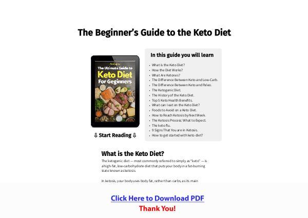 Keto Ketogenic Diet PDF Free Download
