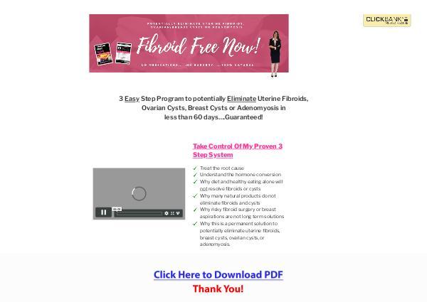 3 Easy Steps to Eliminate Fibroids PDF Free Download