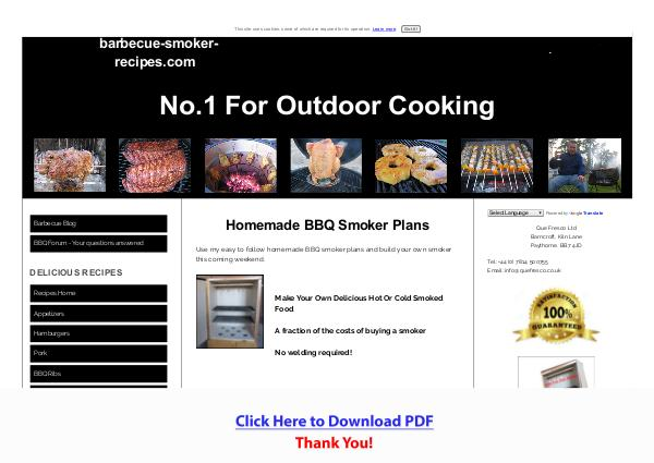 Build Your Own Barbecue Smoker PDF Free Download